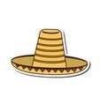 mexican hat sombrero icon vector image