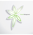 Modern abstract leaves design template vector image
