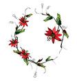 Passiflora wreath vector image vector image