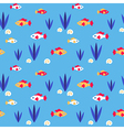Pattern fishes vector image
