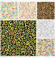 pattern with numbers vector image