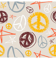 Peace Symbols seamless background vector image vector image