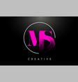 pink ms brush stroke letter logo design pink vector image