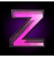 pink plastic figure z vector image vector image