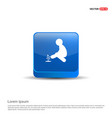 presentation on save the plant icon - 3d blue vector image vector image