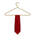 red tie on hanger icon cartoon style vector image