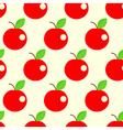 seamless apples background vector image vector image
