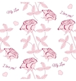Seamless pattern with pink rose-02 vector image vector image