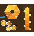 Set of infographic objects with numbers vector image vector image