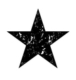 Star icon grunge texture black vector image vector image