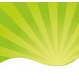 sunburst pattern with green color palette vector image vector image