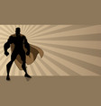 superhero standing tall ray light vector image vector image
