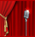 theater stage with microphone vector image vector image