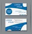 visiting card design template vector image vector image