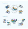 Web Design Blogging Icons Concept Compositions vector image