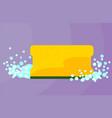 yellow sponge vector image vector image