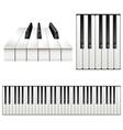 Piano key set vector image