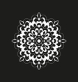 with white round decoration on black background vector image