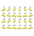 a set 24 taxi car from different angles vector image vector image