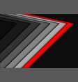 abstract red gray arrow overlap on black vector image vector image