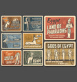 ancient egypt culture and cairo landmarks posters vector image vector image