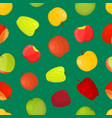 apples different varieties seamless pattern vector image