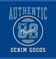 authentic original denim vector image vector image