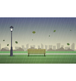 Autumn City Park vector image vector image