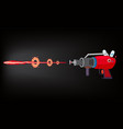blaster laser gan game shot ray and flash vector image