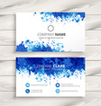 blue abstract business card vector image