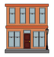 building exterior isolated icon vector image