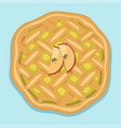 cartoon cake fresh tasty dessert sweet pastry pie vector image vector image