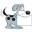 Cartoon Dog with a Sign vector image vector image