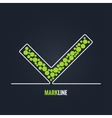 check mark success background vector image