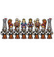 chess cartoon figures vector image vector image