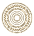 Circle ropes vector image