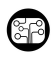 circuit board technology icon design vector image