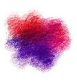 colorful crayon scribble texture stain isolated on vector image vector image