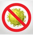 coronavirus prohibition sign vector image