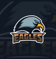 eagles emblem template with eagle head sport team vector image vector image