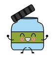 empty glass bottle kawaii cartoon vector image vector image