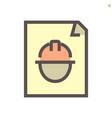 engineer profile document icon design 48x48 vector image vector image