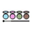 eyeshadow palette realistic decorative cosmetics vector image vector image
