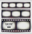 film strip set realistic frame strip blank vector image vector image