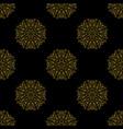 golden vintage decor seamless pattern vector image vector image
