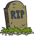 gravestone rip vector image