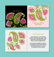 greeting cards design floral background vector image vector image