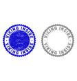 grunge viking inside scratched stamp seals vector image vector image
