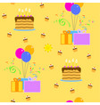 happy birthday seamless vector image vector image