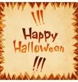 Happy Halloween message paper design background vector image